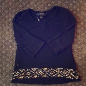 Girl's Polo Ralph Lauren black top!